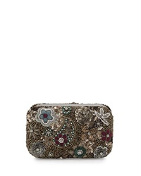 Metallic Paisley Hard Shell Clutch Bag Alice Olivia