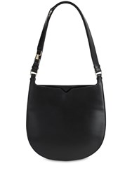 Valextra Hobo Suede And Leather Shoulder Bag Nero
