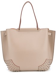 Tod's Classic Shopping Bag Women Calf Leather One Size Nude Neutrals