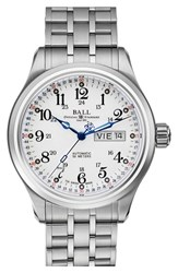 Men's Ball 'Trainmaster 60 Seconds Ii' Bracelet Watch 41Mm