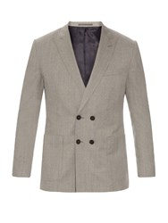 Mathieu Jerome Double Breasted Wool Blazer Grey