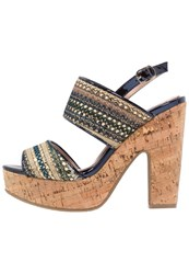 Refresh Platform Sandals Jeans Blue Denim
