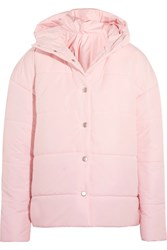 A.W.A.K.E. Bubblegum Princess Oversized Quilted Shell Jacket Pastel Pink