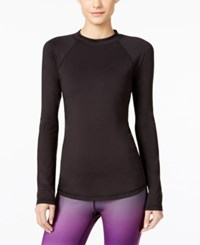 Ideology Base Layer Brush Lined Fleece Training Top Only At Macy's Noir
