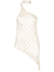 Haney Bowie Embellished Top Neutrals
