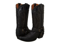 Stetson Snip Toe Harness Boot Black Cowboy Boots