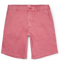 Faherty Slim Fit Cotton Chino Shorts Red