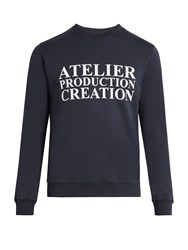 A.P.C. Atelier De Production Cotton Sweatshirt Navy