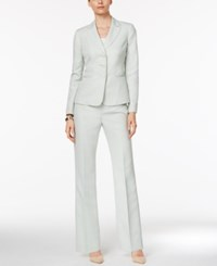 Le Suit Damask Stripe Pantsuit Mint Multi