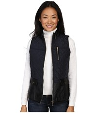 Fdj French Dressing Jeans Quilted Jacketing Vest Navy Black Women's Vest Blue