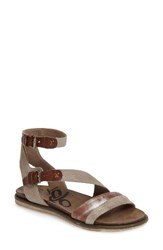 Otbt Women's March On Flat Sandal Grey Silver Leather