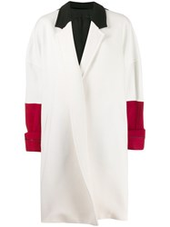 Haider Ackermann Oversized Colour Block Coat White