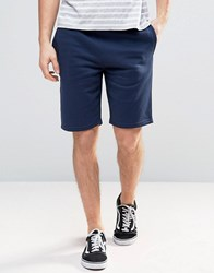 New Look Jersey Shorts In Navy Navy