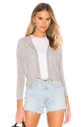 Autumn Cashmere Easy Crop Cardigan Gray