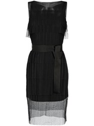 Gloria Coelho Tulle Panels Dress Polyester Black