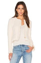 Derek Lam Short Fringe Detail Jacket White
