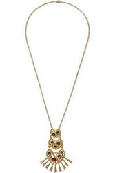 Ben Amun Gold Tone Crystal Necklace Gold