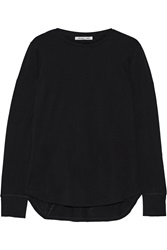 Helmut Lang Cotton And Cashmere Blend Jersey Top