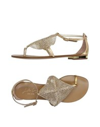 Lola Cruz Footwear Thong Sandals Women Gold