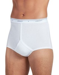 Jockey Four Pack Plus One Free Bonus Classic Full Rise Brief With Staynew Technology White