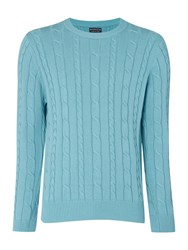 Howick Sanford Cable Crew Jumper Blue Surf
