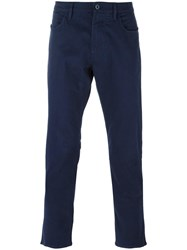 Armani Jeans Five Pocket Chinos Blue