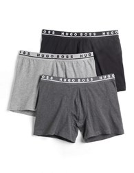 Boss Three Pack Cyclist Cotton Briefs Grey