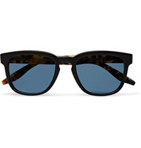Barton Perreira Coltrane Square Frame Matte Acetate Polarised Sunglasses Black