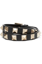 Valentino Rockstud Leather Choker Black