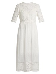 Zimmermann Caravan Embroidered Cotton Dress Ivory