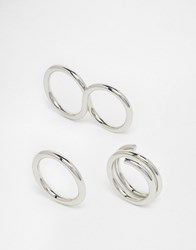 Cheap Monday Revolve Multipack Rings Silver