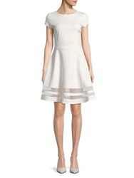Design Lab Lord And Taylor Short Sleeve Teacup Dress White