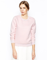 Selected Sweatshirt In Neoprene Ballerinapink