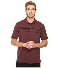 Travis Mathew Surs Polo Oxblood Black Men's Clothing Brown