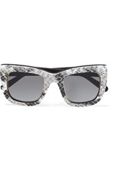Stella Mccartney Square Frame Printed Acetate Sunglasses Gray