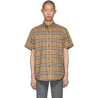 Burberry Beige Jameson Short Sleeve Shirt