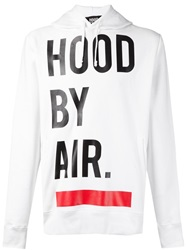 Hood By Air Logo Print Hoodie White