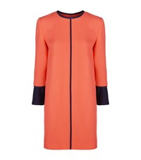 Victoria Beckham Pleated Cuff Shift Dress Female Orange