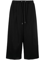 08Sircus Cropped Drawstring Trousers Black