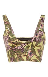 Red Valentino Limone Print Bra Top