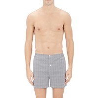Sleepy Jones Plaid Boxers Gray