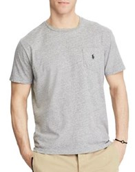 Polo Big And Tall Heathered Classic Fit Cotton Tee Dark Vintage