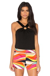 Trina Turk Anali Halter Top Black