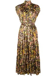 Co Floral Silk Dress Multicolour