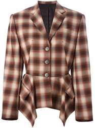 Jean Paul Gaultier Vintage Plaid Blazer Red