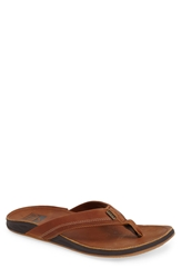 Reef 'J Bay 2' Flip Flop Men Bronze Brown