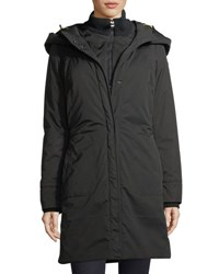 Post Card Alessami Hooded Insulated Parka Jacket Black