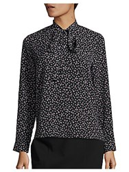French Connection Falsy Fleur Floral Printed Top Blue