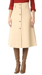 Philosophy Di Lorenzo Serafini Tea Length Skirt Camel