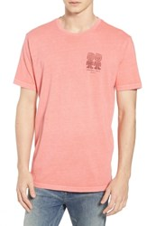 Rvca Campbell Brothers T Shirt Pink